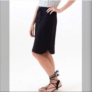Anges & Dora Black Skirt Small Drawstring Waist
